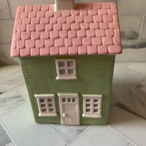 Pottery Barn Kids pastel cottage house bank